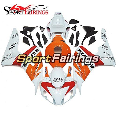 Sportfairings Orange Red White Complete Plastics ABS Injection Motorcycle Fairing Kits For Honda CBR1000RR Year 2006 2007 Body Kits