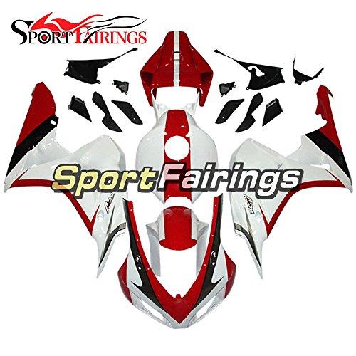 Sportfairings Plastics ABS Injection Red White Motorcycle Fairing Kits For Honda CBR1000RR Year 2006 2007 Bodywork