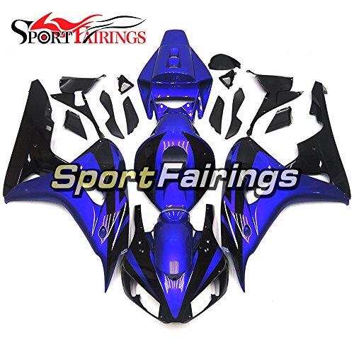 Sportfairings Royal Blue Black ABS Plastics Injection Motorcycle Fairing Kits For Honda CBR1000RR Year 2006 2007 Cowlings