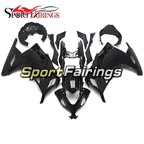 SportFairings Gloss Black ABS Plastics Injection Motorcycle Fairing Kits For Kawasaki EX300R Ninja 300 Year 2013 - 2015 13 14 15 Motorbike Bodywork Cowling