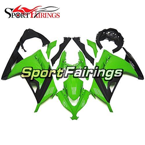 SportFairings Green Black Motorcycle Fairing Kits For Kawasaki EX300R Ninja 300 Year 2013 - 2015 13 14 15 Motorbike Bodywork ABS Plastics Injection Cowling