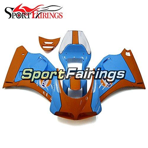 Sportfairings Blue Orange Complete Injection ABS Plastic Fairing Kits For DUCATI 996 748 916 998 Monoposto 1996-1999 2000 2001 2002 Motorbike Bodywork