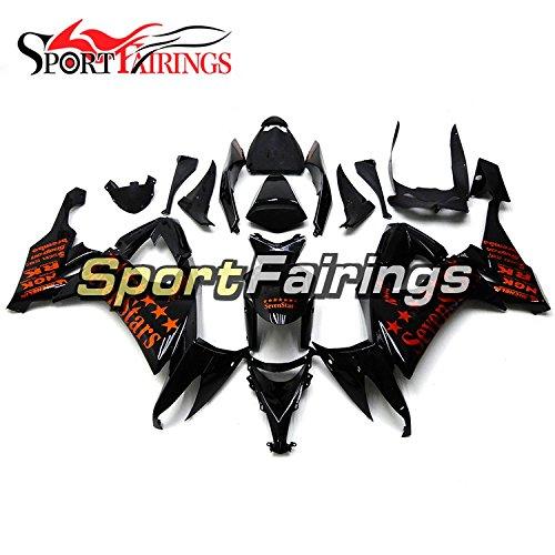 Sportfairings Full Fairing Kit For Kawasaki ZX10R ZX-10R 2008 2009 2010 Motorbike Bodywork Orange Stars Fairings