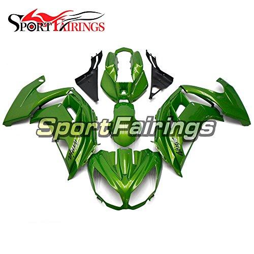 Sportfairings Full Plastic ABS Injection Fairing kits For Kawasaki Ninja 650R ER-6F Year 2012 2013 2014 2015 Motorbike Bodywork Gloss Green Cowling