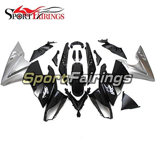 Sportfairings Plastic ABS Fairing kits For Kawasaki Ninja 650R ER-6F Year 2009 2010 2011 Black Silver Full Motorbike Bodywork