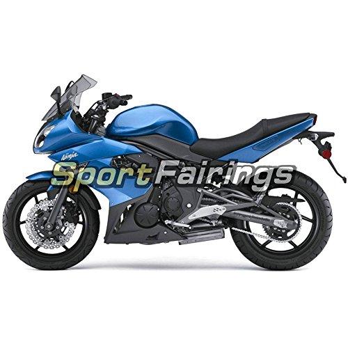 Sportfairings Plastic ABS Fairing kits For Kawasaki Ninja 650R ER-6F Year 2009 - 2011 09 10 11 Gloss Blue Motorbike Bodywork
