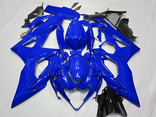 ZXMOTO Motorbike Bodywork Fairing Kit for Suzuki GSX-R 1000 2005-2006 Blue Painted