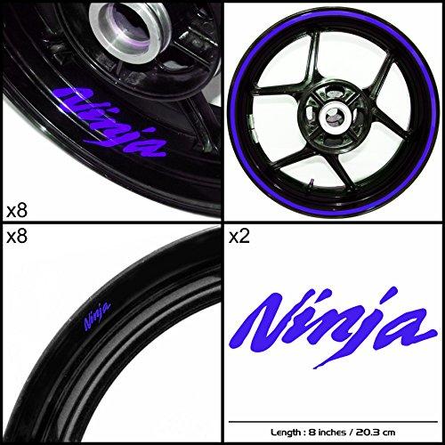 Stickman Vinyls Kawasaki Ninja Motorcycle Decal Sticker Package Reflective Blue Graphic Kit