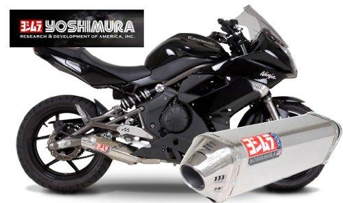 Yoshimura TRC Polished Stainless Steel Tri-Oval Slip On Exhaust System - Kawasaki Ninja 650R 2009-2011