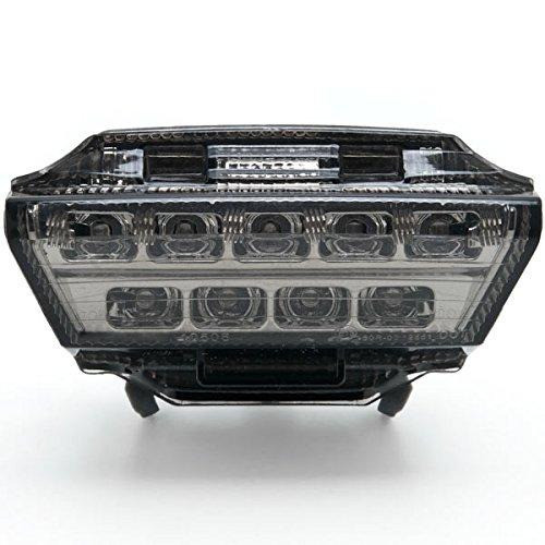 Krator Kawasaki Ninja ZX10-R ZX10R Smoke LED Tail Brake Light Darkened Lens 2011-2015
