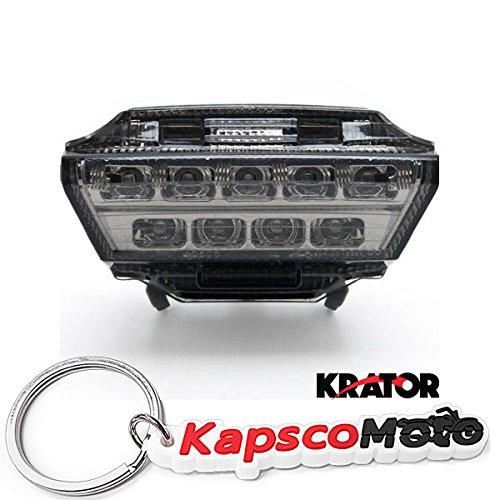 Krator Kawasaki Ninja ZX10-R ZX10R Smoke LED Tail Brake Light Darkened Lens 2011-2015  KapscoMoto Keychain