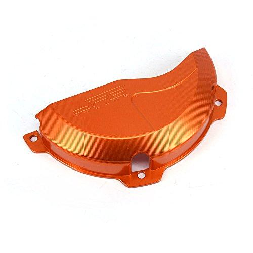 JFG RACING CNC Aluminum Billet Orange Engine Case Clutch Cover Guard Protector For KTM EXC 250 EXC 300 2009-2016 250SX 2009-2015