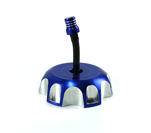 Billet Aluminum Gas Fuel Petrol Tank Cap Cover Fit Yamaha YZ YZF WRF YZ85 YZ125 YZ250 YZF250 YZF450 WRF250 WRF450 MX Supermoto Enduro YM Blue