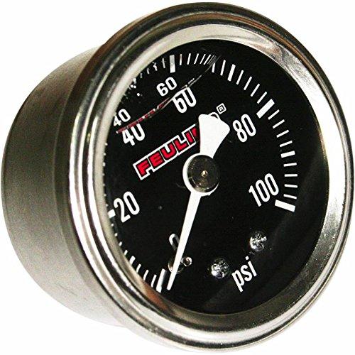 Feuling Oil Pressure Gauge - Back Port - Black Face 9043