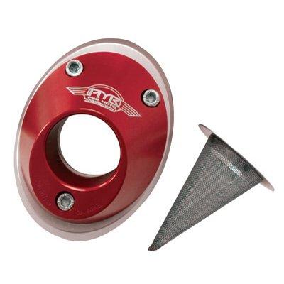 Pro Moto Billet Spark Arrestor End Cap - Twin Pipe Red PMB-01-1102