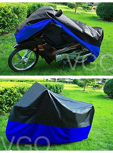 Motorcycle Cover For Harley Road King Custom UV Dust Prevention XL Black Blue
