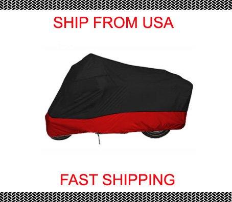 Red Black XL Motorcycle cover 4 Harley Road King Custom