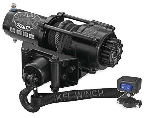 New KFI 2500 lb Stealth Edition Winch Model Specific Mounting Bracket - 1995-2002 Polaris Xplorer 400 ATV