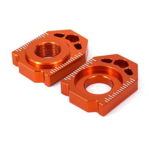 JFG RACING CNC Rear Axle Blocks Chain Adjuster For KTM SX SXF XC XCF 125 150 250 350 450 13-16 Husqvarna TC125 FC350 FC250 FC450 16