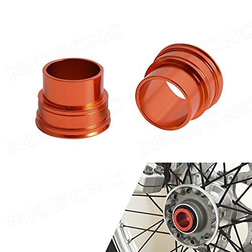 NICECNC Billet Aluminum Front Wheel Spacers for KTM SXSX-FXC-F 125-530 2003-2014 EXCEXC-FEXC-WXC-WSMR 125-530 2003-2015 HusqvarnaHusaberg TE FEFSFX