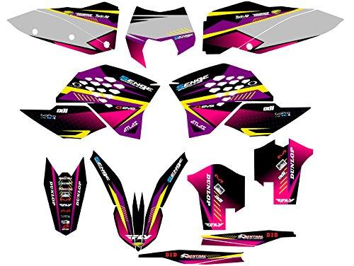 Senge Graphics 2008-2010 KTM XCF Surge Purple Graphics Kit