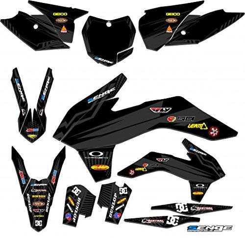 Senge Graphics 2011-2012 KTM XCF Mayhem Black Graphics Kit