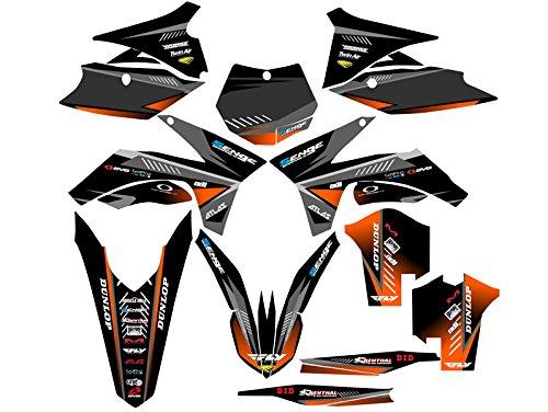 Senge Graphics 2011-2012 KTM XCF Surge Black Graphics Kit