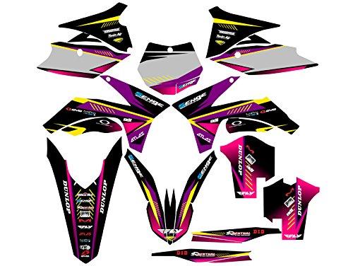 Senge Graphics 2011-2012 KTM XCF Surge Purple Graphics Kit