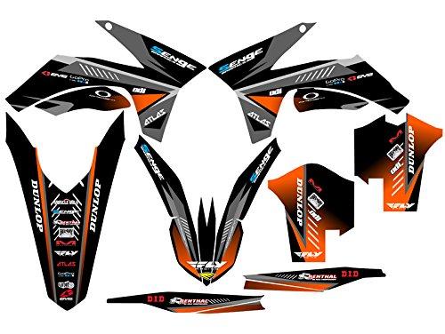 Senge Graphics 2013-2015 KTM XCF Surge Black Graphics Kit