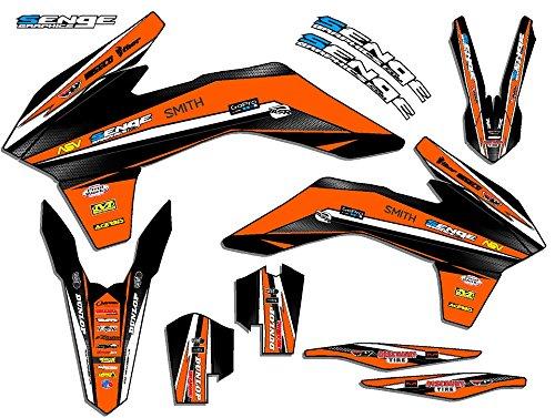 Senge Graphics 2013-2015 KTM XCF Vigor Orange Graphics Kit