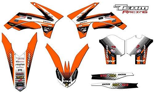 Team Racing Graphics kit for 2011-2012 KTM XCF ANALOG Base kit