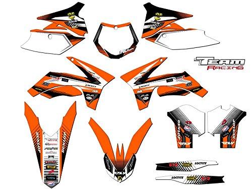 Team Racing Graphics kit for 2011-2012 KTM XCF ANALOGComplete kit