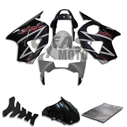 9FastMoto Fairings for honda 2002 2003 CBR900RR 954 02 03 CBR900 RR 954 Motorcycle Fairing Kit ABS Injection Set Sportbike Cowls Panels Black White H0605