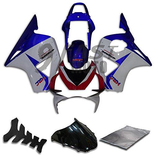 9FastMoto Fairings for honda 2002 2003 CBR900RR 954 02 03 CBR900 RR 954 Motorcycle Fairing Kit ABS Injection Set Sportbike Cowls Panels Blue White H0617