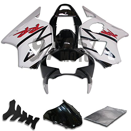 9FastMoto Fairings for honda 2002 2003 CBR900RR 954 02 03 CBR900 RR 954 Motorcycle Fairing Kit ABS Injection Set Sportbike Cowls Panels White Black H0608