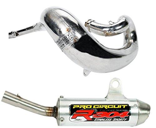 Pro Circuit Exhaust System - Platinum Pipe R-304 Shorty Silencer - Honda CR250R 2004 _PH03250PSH04250-RE