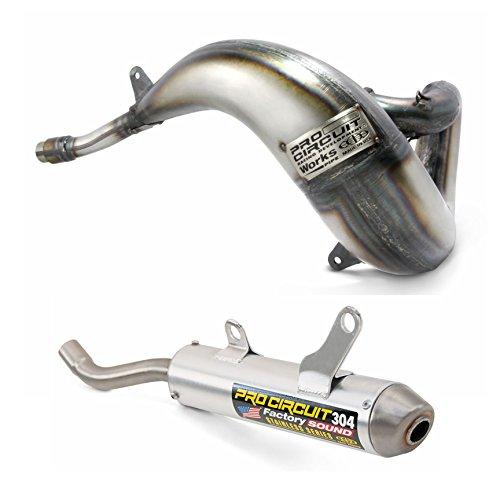 Pro Circuit Exhaust System - Works Pipe 304 Silencer - Kawasaki KX500 1989-2004 _PK89500-02SK88500-304