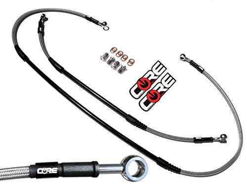 Core Moto - MX Brake Lines Combo Front and Rear Fits Husqvarna TE125 TE250 TE300 FE250 FE350 FE501 FE350S FE501S 2014-2015 - Stainless Steel