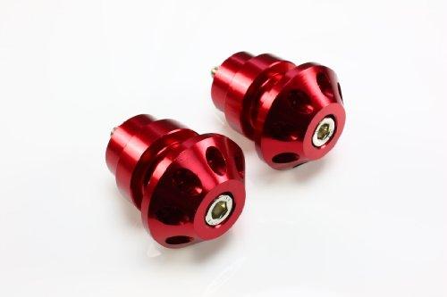 Yamaha Aprilia Swingarm Stand Spools - 6mm Sliders CNC Billet Red