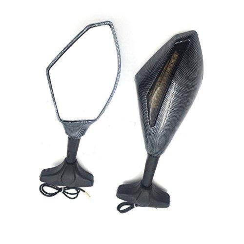 Carbon Turn Signal Mirrors with Smoke Lens Fit For Suzuki GSXR 600750 2001-2005 2009-2012GSXR 1000 2001-2005 2009-2012GSXR 1100 1993-1998 Hayabusa 1999-2012