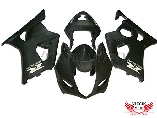 VITCIK Fairing Kits Fit for Suzuki GSXR1000 K3 2003 2004 GSXR 1000 GSX R1000 K3 03 04 Plastic ABS Injection Mold Complete Motorcycle Body Aftermarket Bodywork Frame Black A034