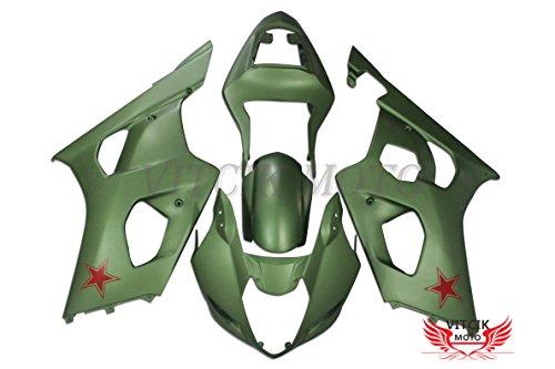 VITCIK Fairing Kits Fit for Suzuki GSXR1000 K3 2003 2004 GSXR 1000 GSX R1000 K3 03 04 Plastic ABS Injection Mold Complete Motorcycle Body Aftermarket Bodywork Frame Green A053