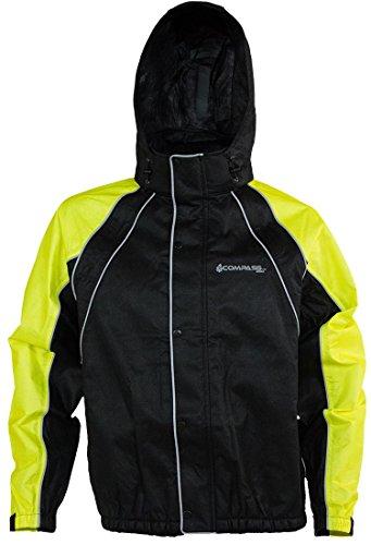 COMPASS RT23322-5510-XL Roadhog Reflective Riding Jacket HV LimeBlack X-Large
