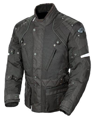 Joe Rocket Ballistic Revolution Mens Textile Motorcycle Riding Jacket BlackBlack Large