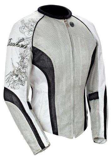 Joe Rocket Cleo 22 Womens Mesh Motorcycle Riding Jacket SilverBlackWhite Medium