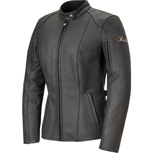 Joe Rocket Trixie Womens Leather Motorcycle Riding Jacket BlackBlack XX-Large