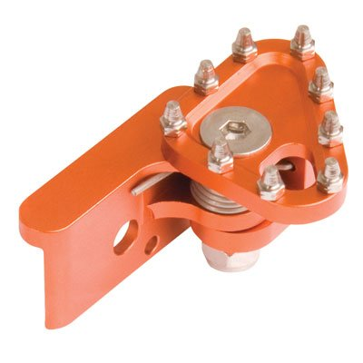 Tusk Aluminum Brake Pedal Replacement Toe Tip Orange - Fits KTM 530 EXC-R 2008-2011