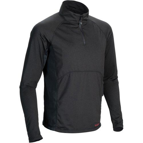 Mobile Warming Mens Longmen Shirt,black W/ Battery,l