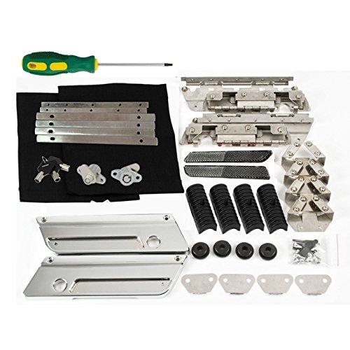 Saddlebags Hard bags Hardware Rubber Kit Set Metal Latch Covers Reflector Lock for Harley 93-13