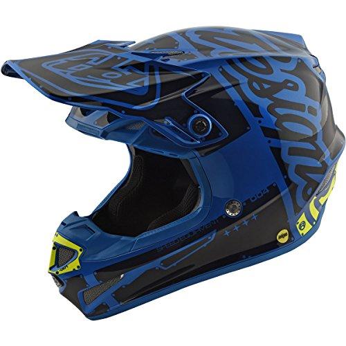 2018 Troy Lee Designs SE4 Polyacrylite Factory Helmet-Blue-XL